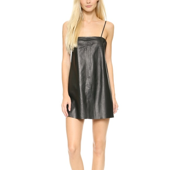 a17a623171 VEDA Black Leather Pixie Dress Medium #VEDAA40094.  M_5b32526845c8b36aa5d83a0a